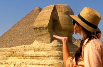 Kissing the Sphinx in Egypt