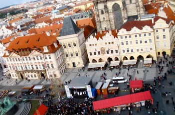 Prague's Old Town Square during Easter
