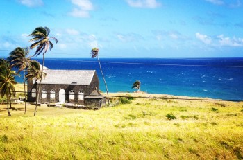 One of the oldest churches in the Western Hemisphere can be found on St. Kitts. How about that view?